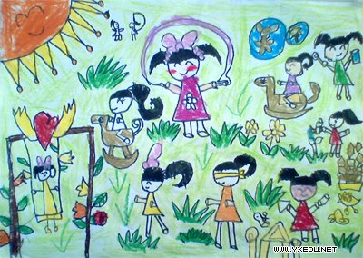 少儿英语_儿童绘画:难忘的幼儿园_颜色卡片 - 宝宝吧