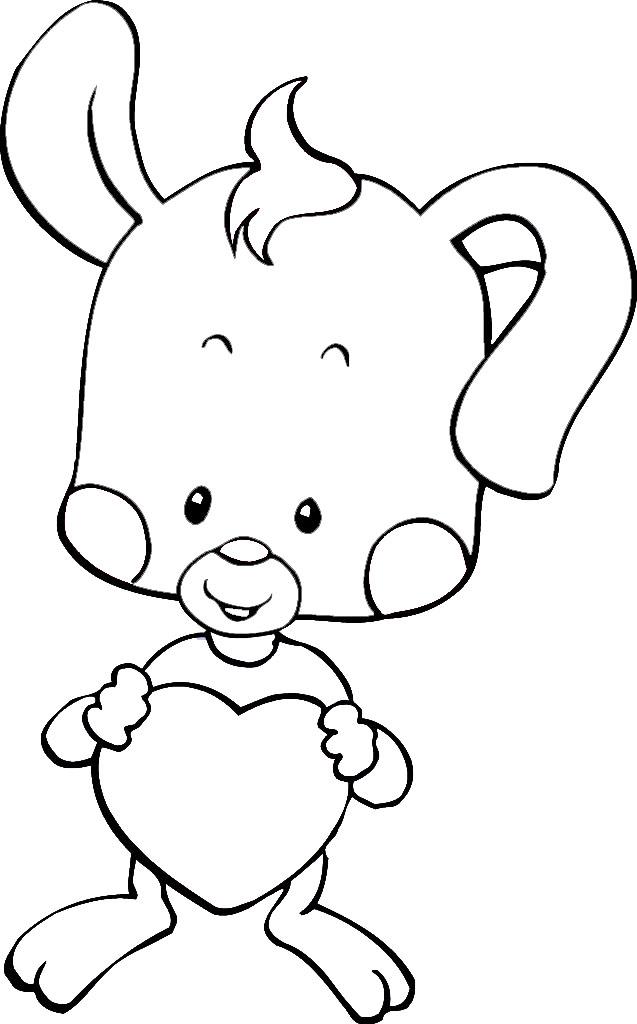 小兔子 简笔画5张