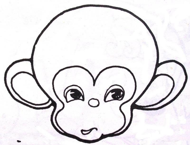 小猴子拿桃简笔画