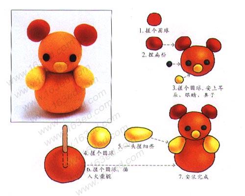 彩泥制作:小熊熊猫